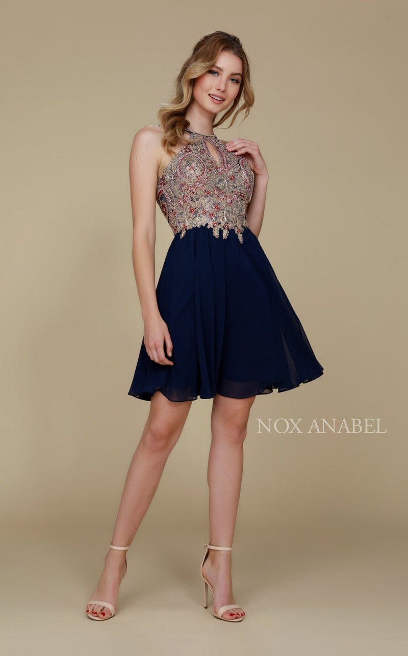 Nox Anabel 6324 Dress Navy
