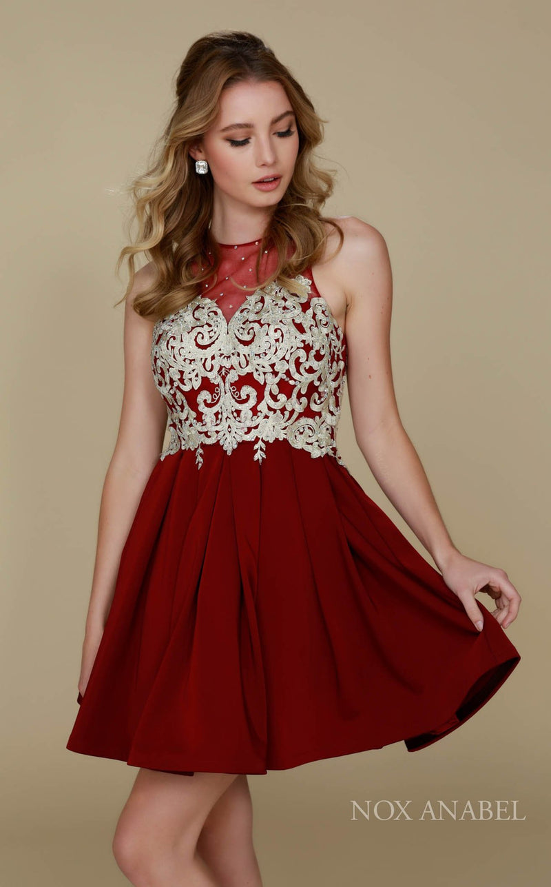Nox Anabel 6338 Dress Burgundy