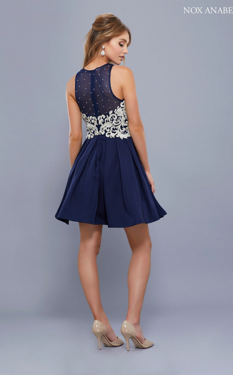 Nox Anabel 6338 Dress Navy
