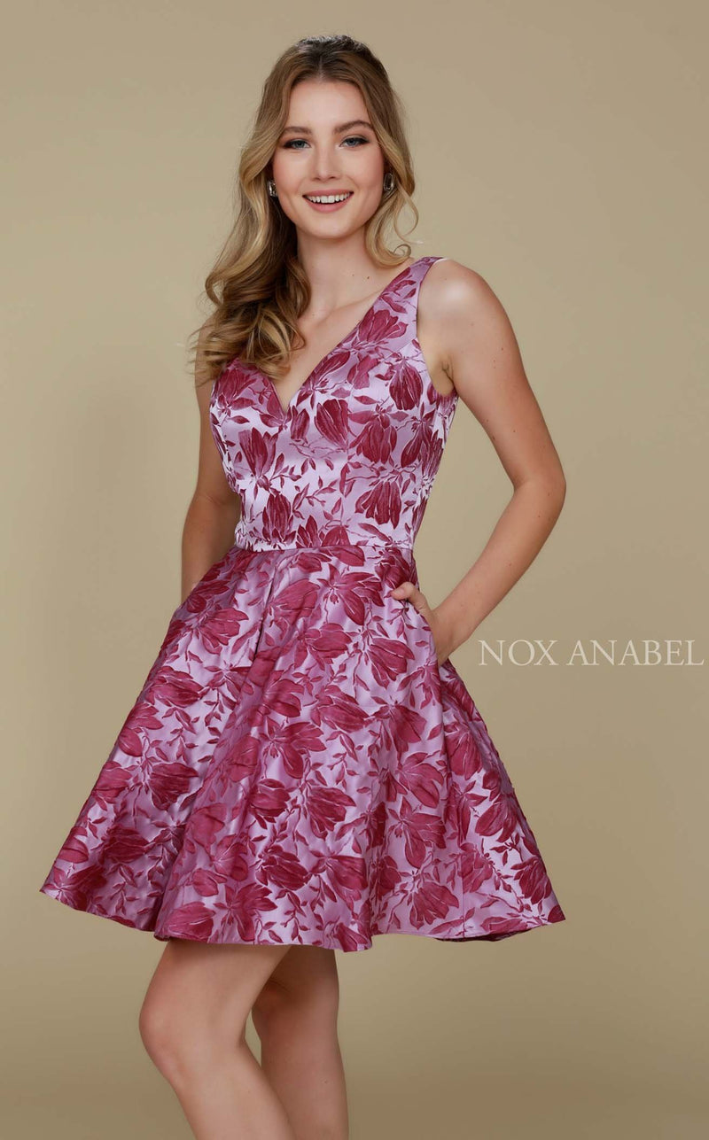 Nox Anabel 6362 Dress Magenta