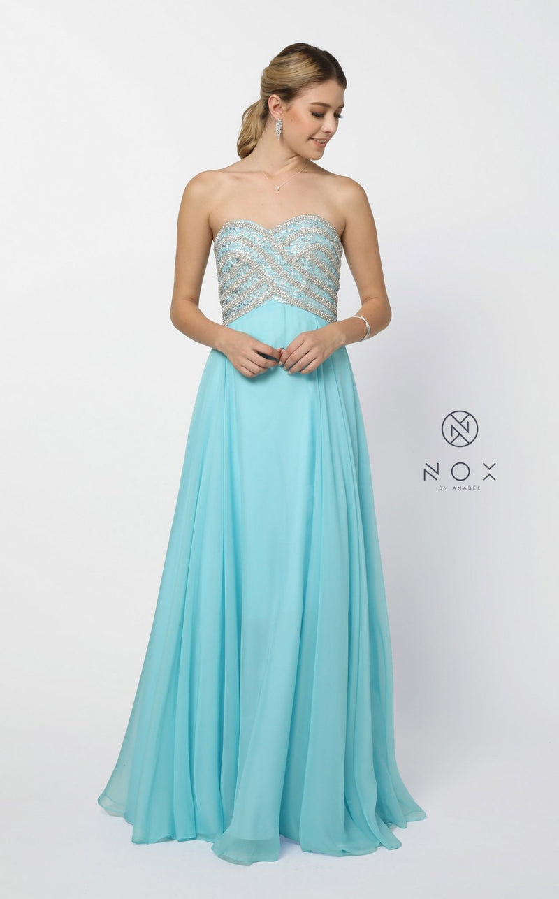 Nox Anabel 8147 Dress Aqua-Blue