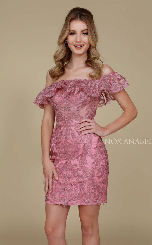 Nox Anabel A611 Dress Mauve