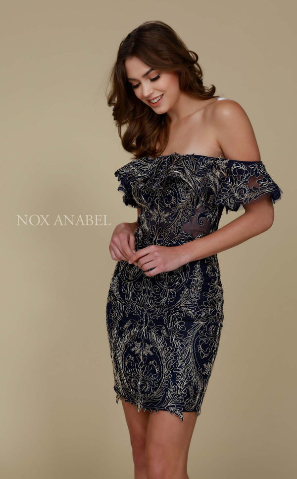 Nox Anabel A611 Dress Navy-Blue