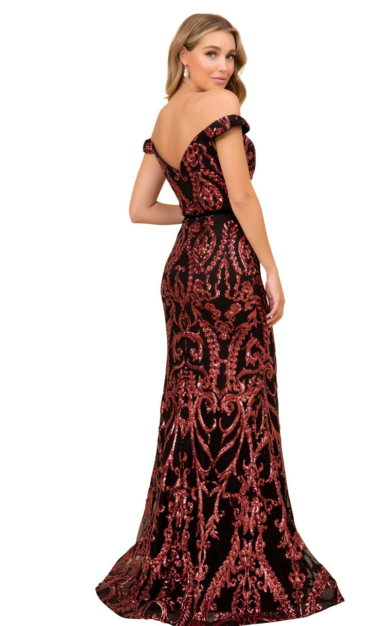 Nox Anabel P418 Dress Black-Burgundy