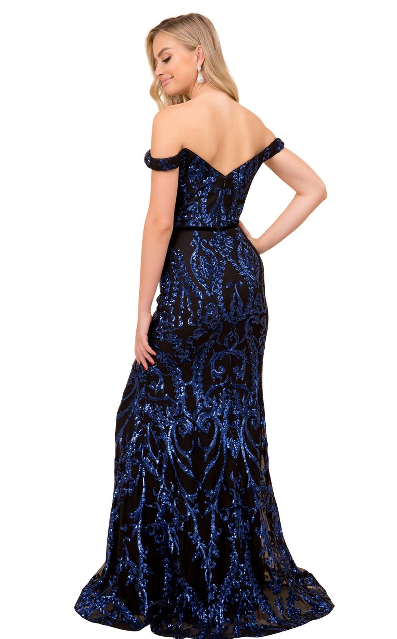 Nox Anabel P418 Dress Black-Royal