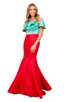 Nox Anabel Q129 Dress Red-Green