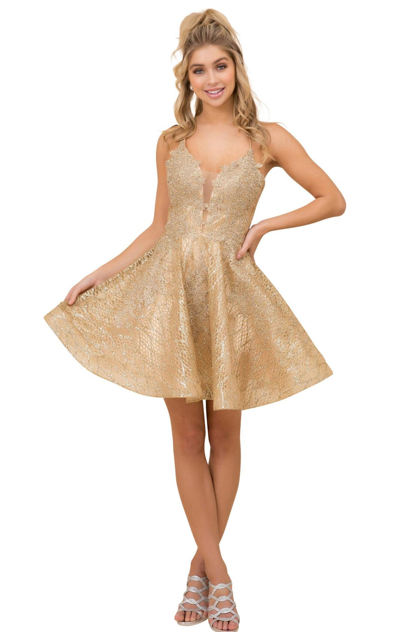 Nox Anabel R682 Dress Gold