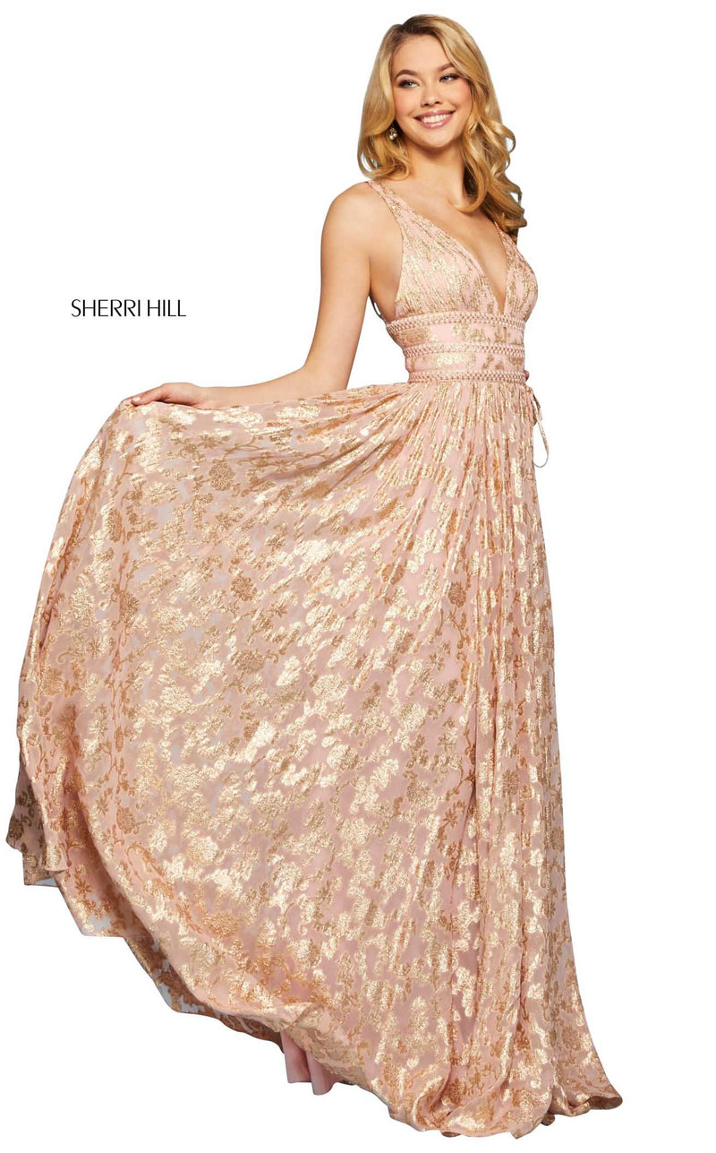 Sherri Hill 52474 Dress Blush-Gold