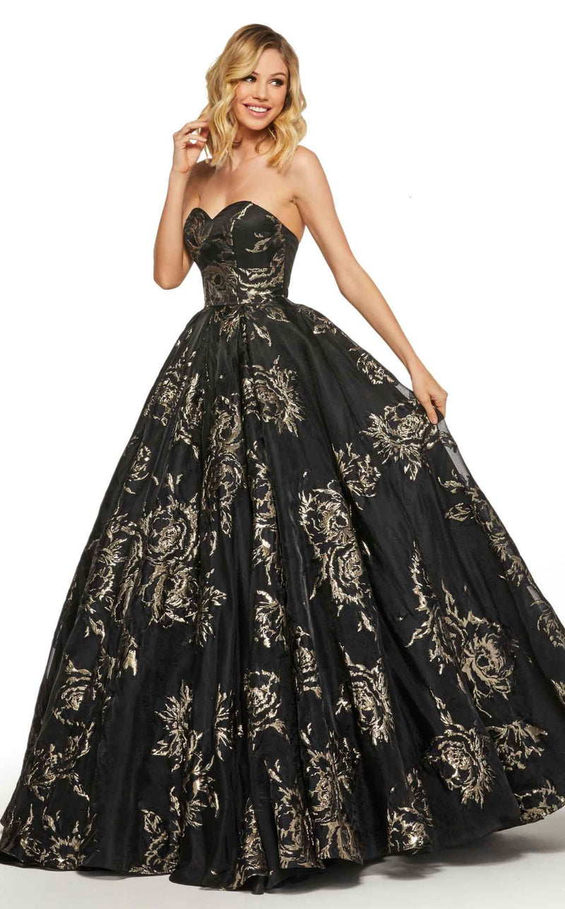 Sherri Hill 52952 Black-Gold
