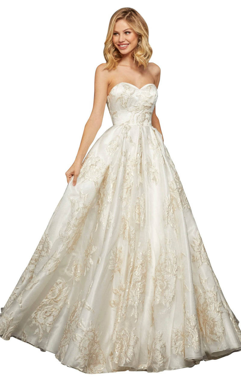 Sherri Hill 52952 Ivory-Gold
