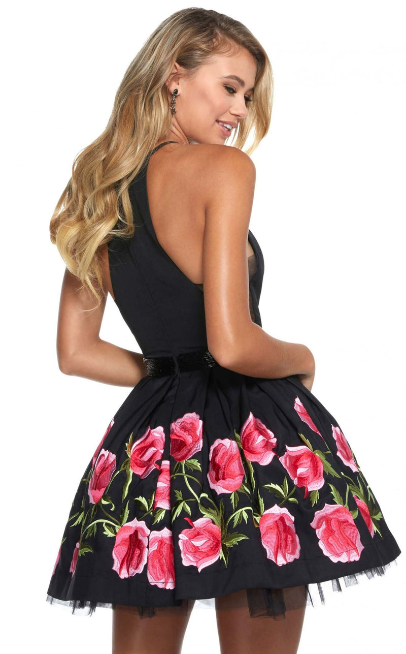 Sherri Hill 53023 Black-Fuchsia
