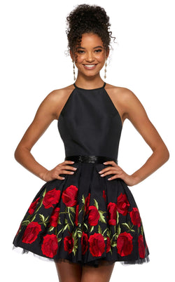 Sherri Hill 53023 Black-Red