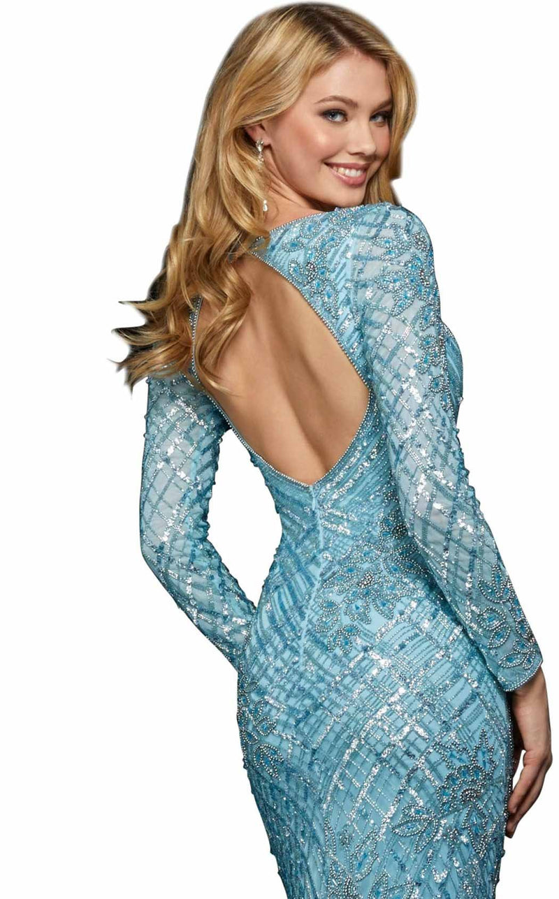Sherri Hill 53130 Light-Blue