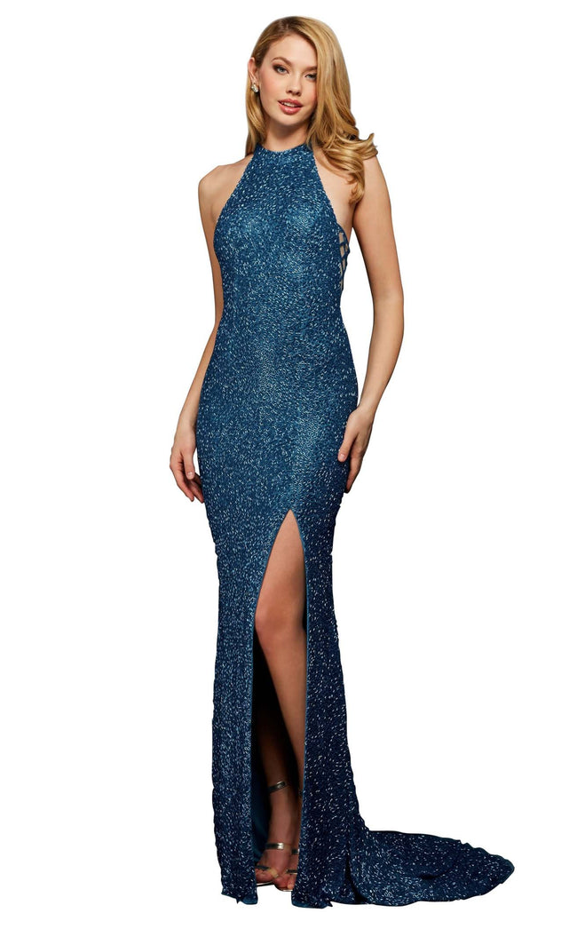 Sherri Hill 53131B Peacock