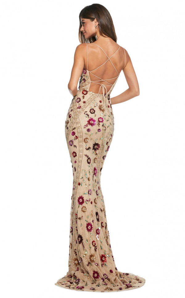 Sherri Hill 53134 Nude-Multi