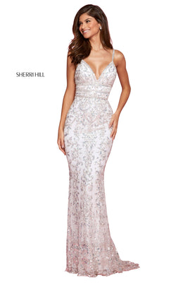 Sherri Hill 53136 Dress Ivory-Silver