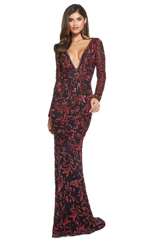 Sherri Hill 53161 Black-Red