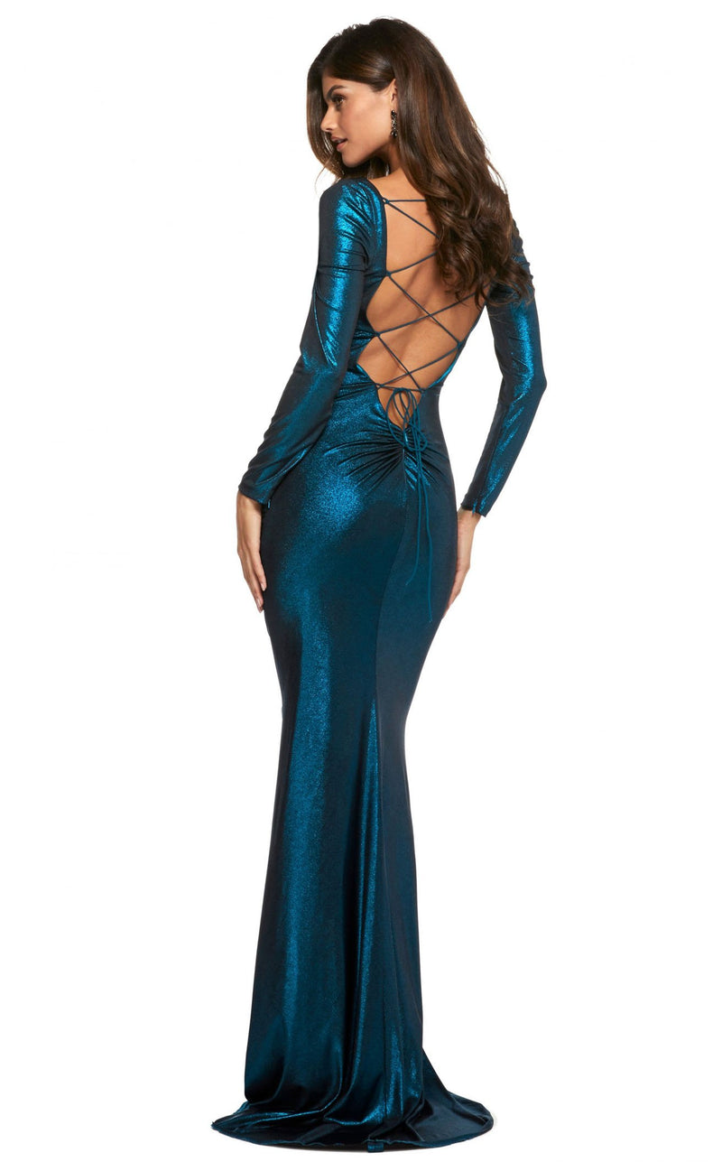 Sherri Hill 53240 Black-Teal