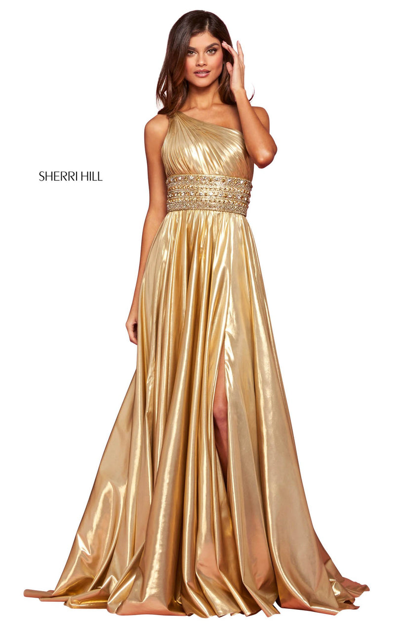 Sherri Hill 53305 Dress Gold