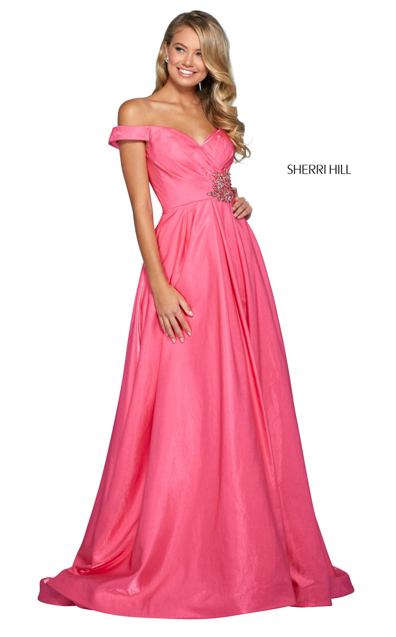 Sherri Hill 53309 Dress Hot-Pink