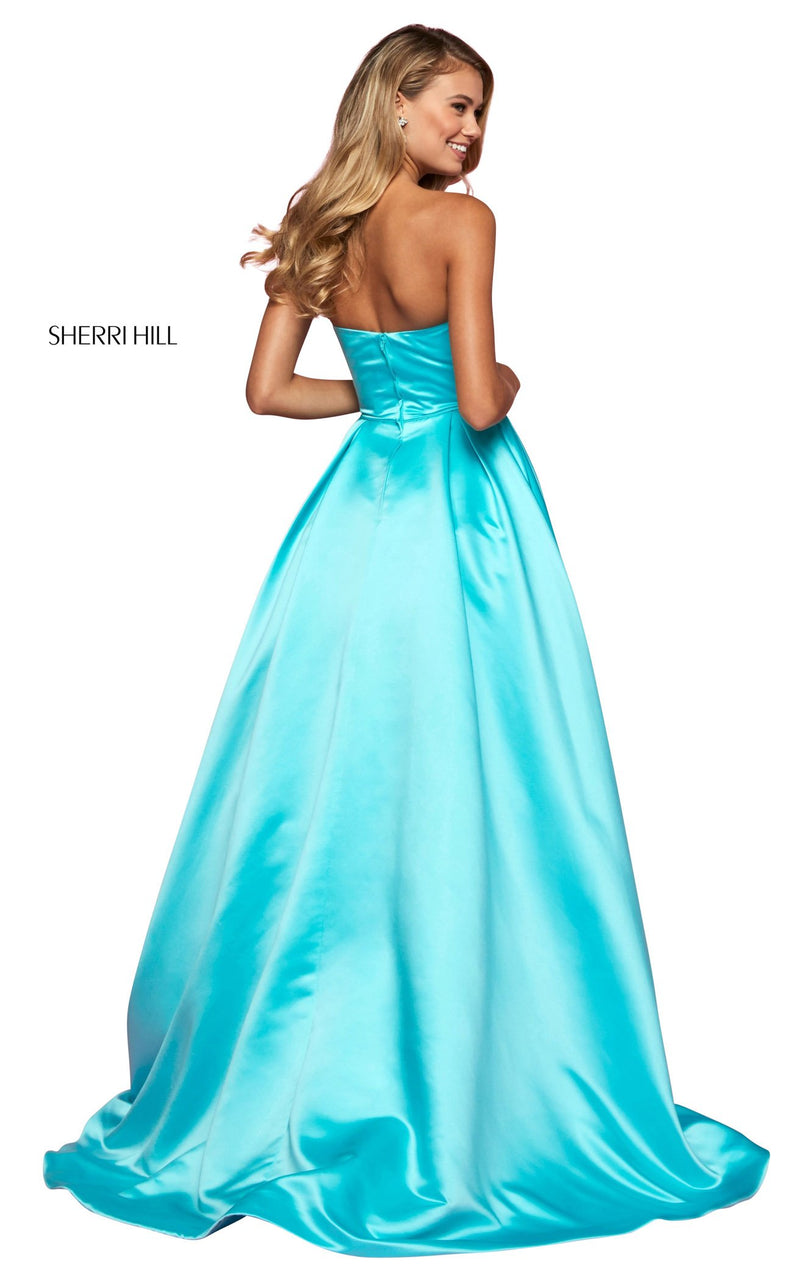 Sherri Hill 53320 Dress Aqua