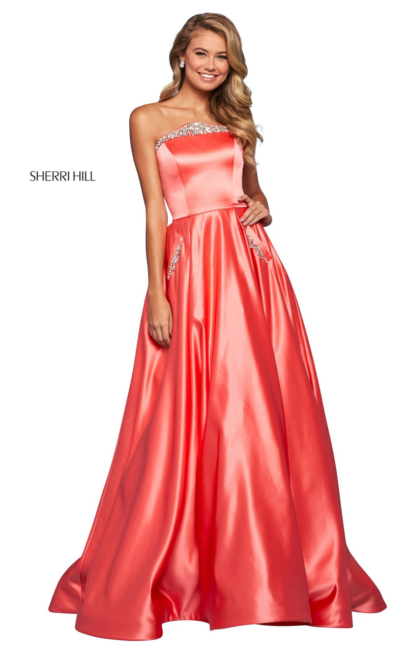 Sherri Hill 53320 Dress Coral