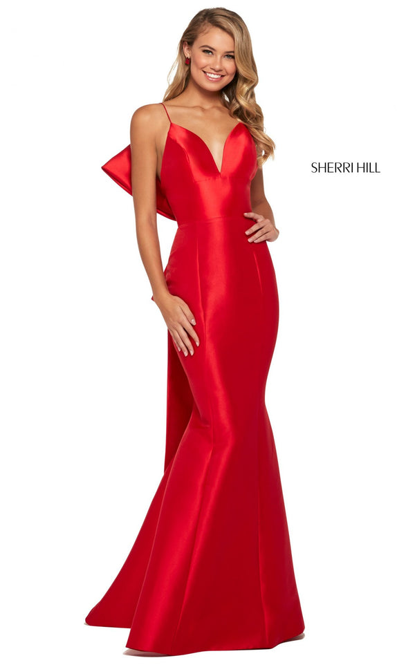 Sherri Hill 53336 Dress Red