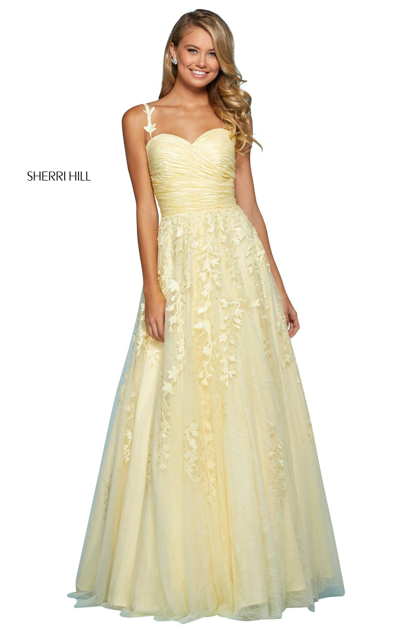 Sherri Hill 53344 Dress Yellow