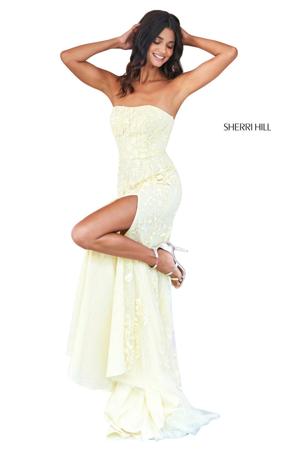Sherri Hill 53345 Dress Yellow