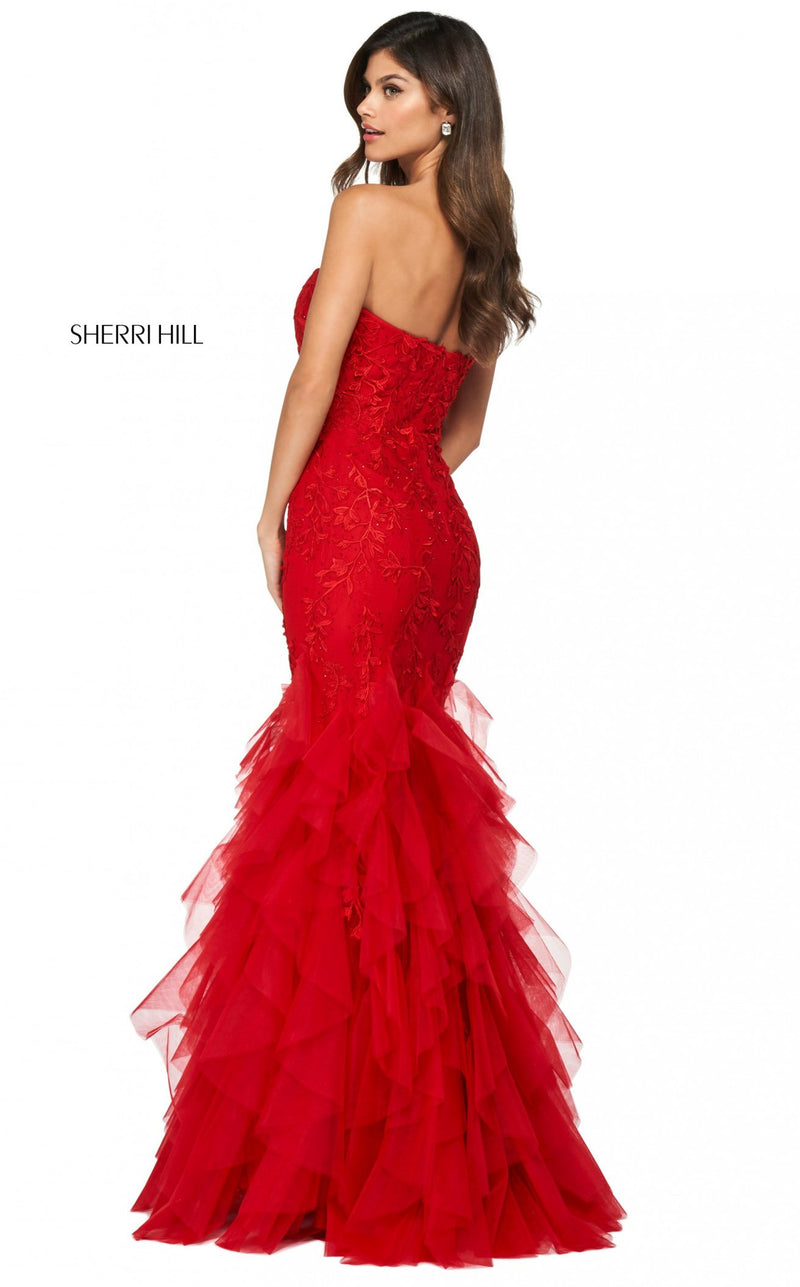 Sherri Hill 53346 Dress Red