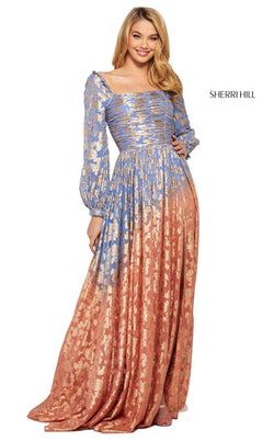 Sherri Hill 53349 Dress Periwinkle-Coral