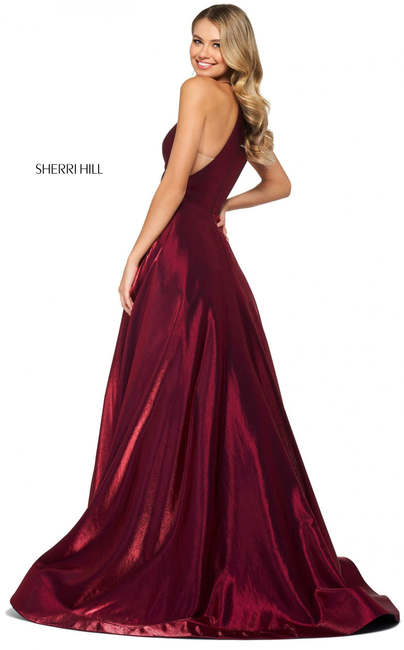 Sherri Hill 53350 Dress Wine