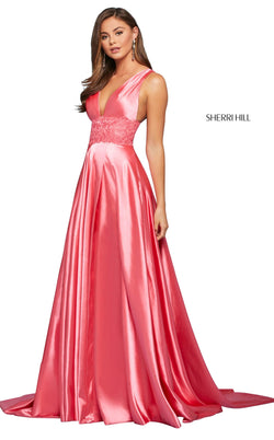 Sherri Hill 53352 Dress Coral