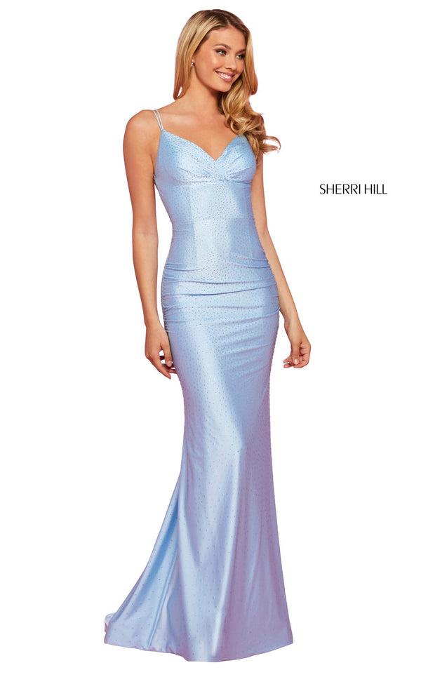 Sherri Hill 53355 Dress Light-Blue