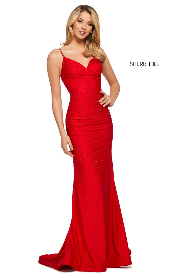 Sherri Hill 53355 Dress Red