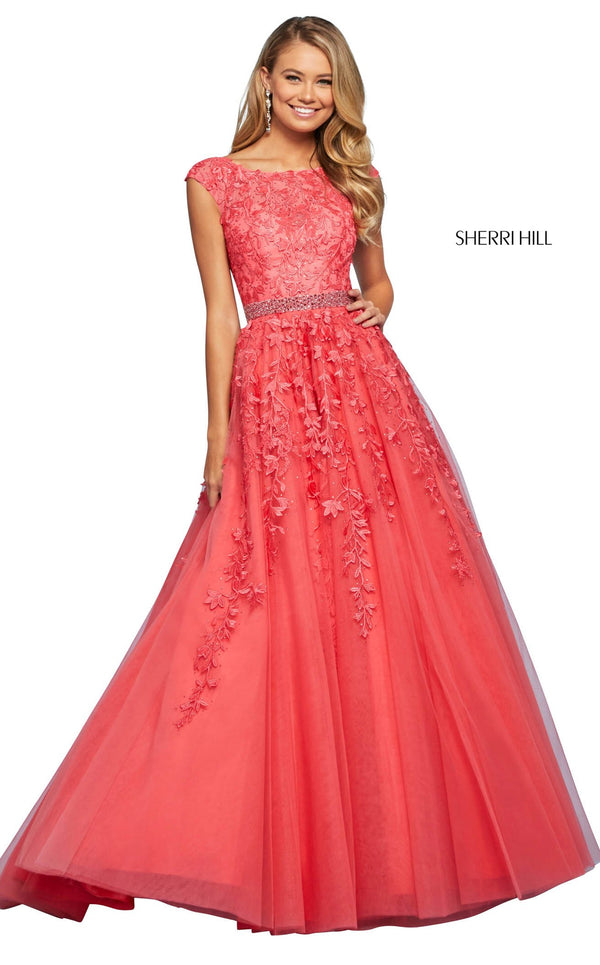 Sherri Hill 53356 Dress Coral