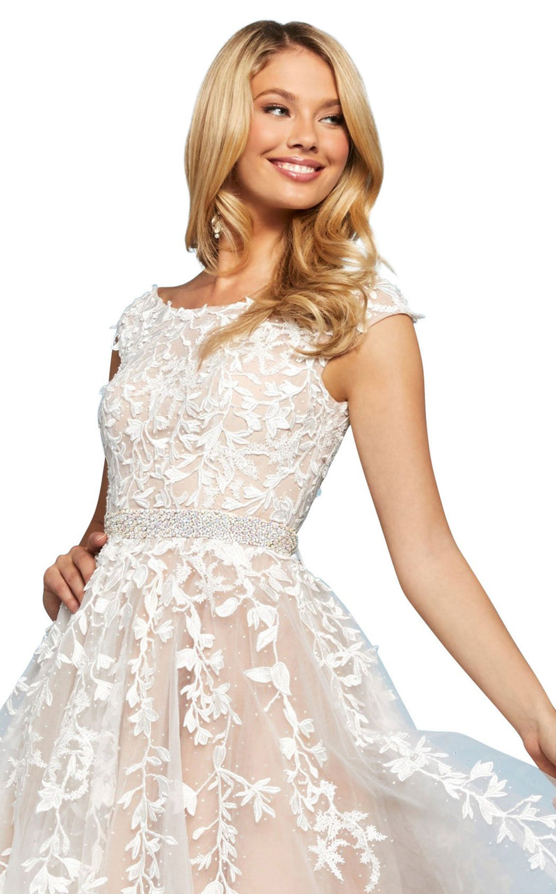 Sherri Hill 53356 Dress Ivory-Nude