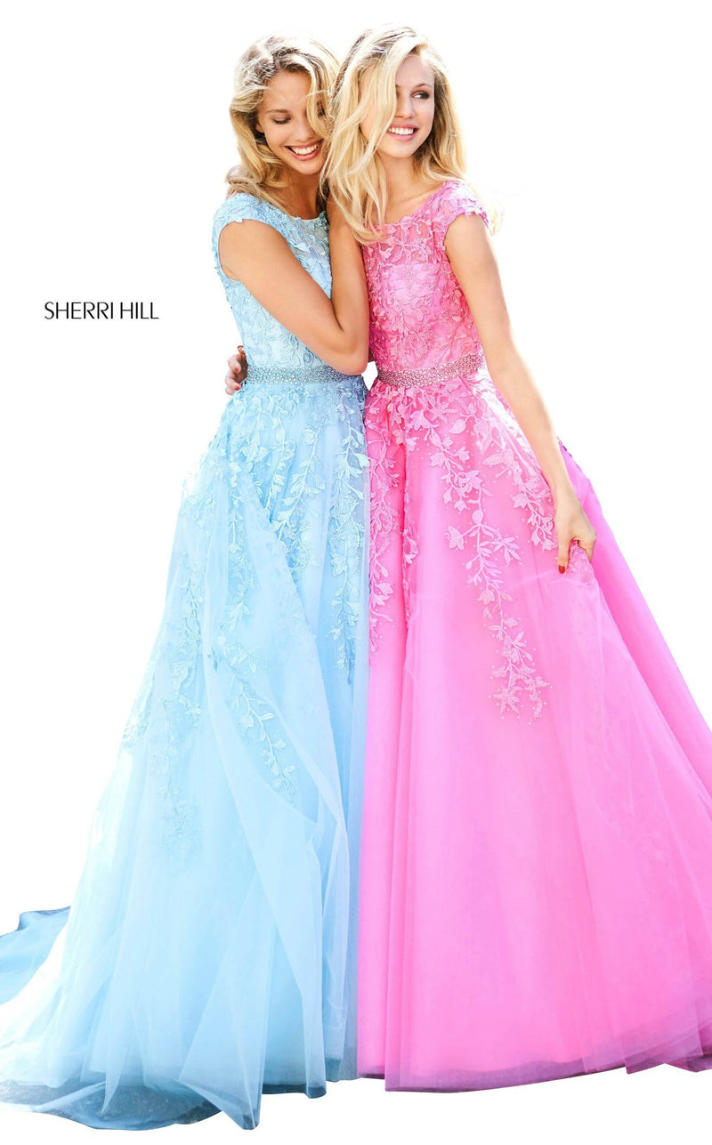 Sherri Hill 53356 Dress Light-Blue