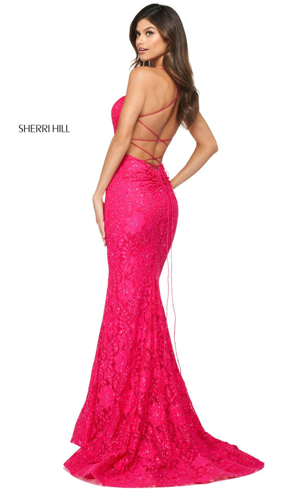 Sherri Hill 53359 Dress Bright-Pink