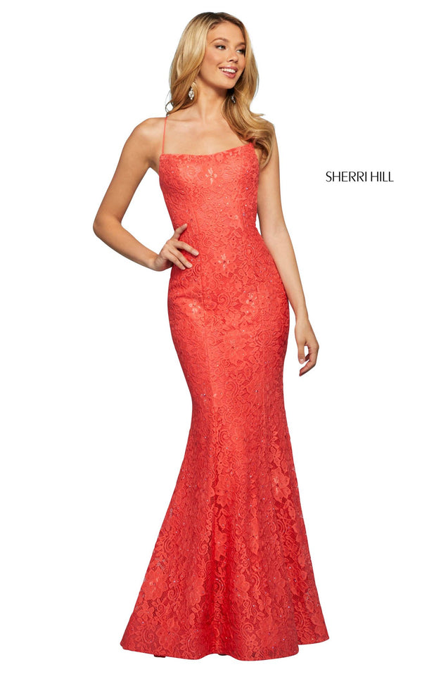 Sherri Hill 53359 Dress Coral