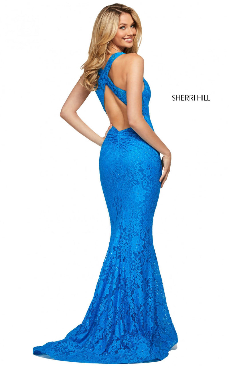 Sherri Hill 53363 Dress Peacock