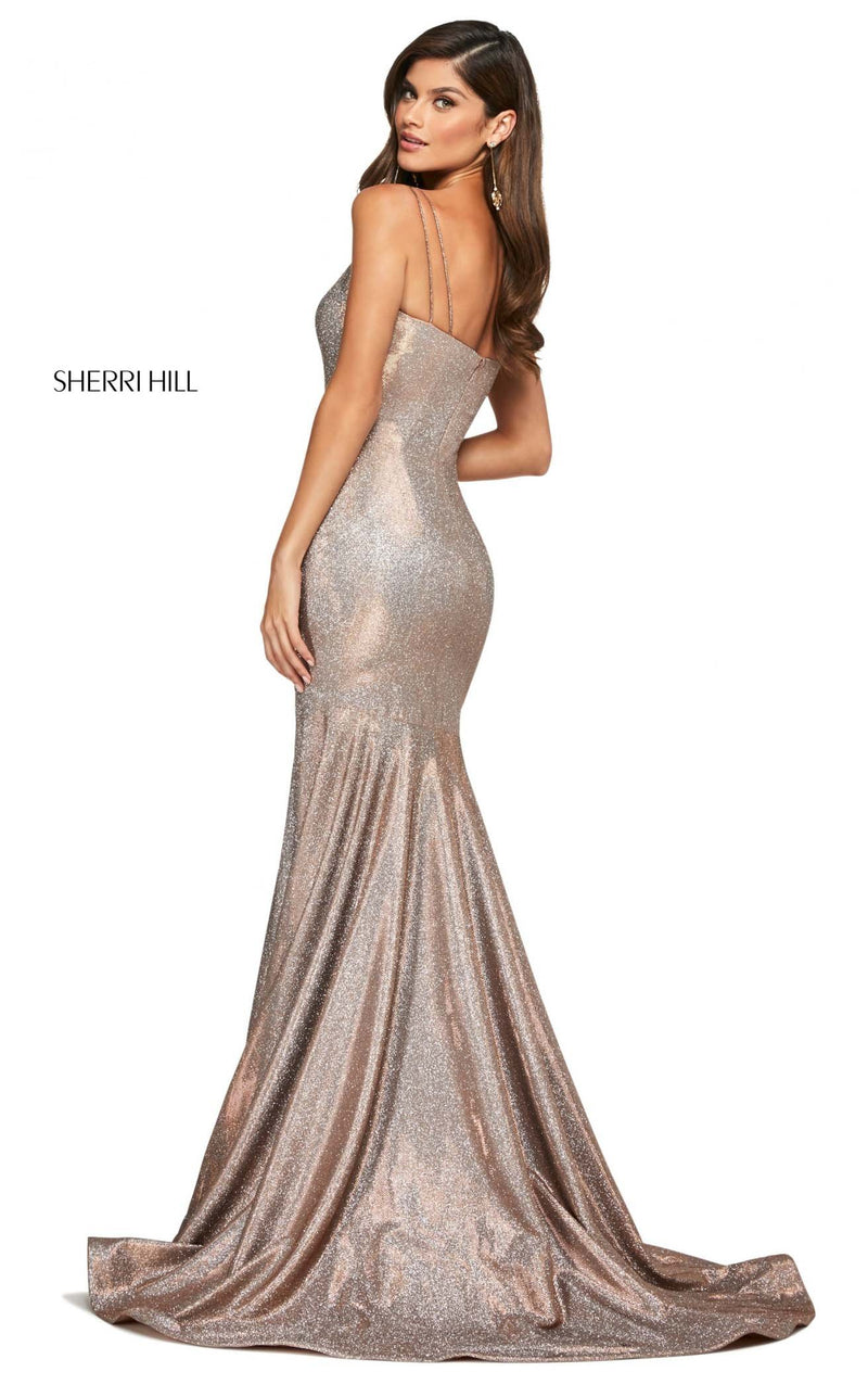 Sherri Hill 53370 Dress Mocha-Silver