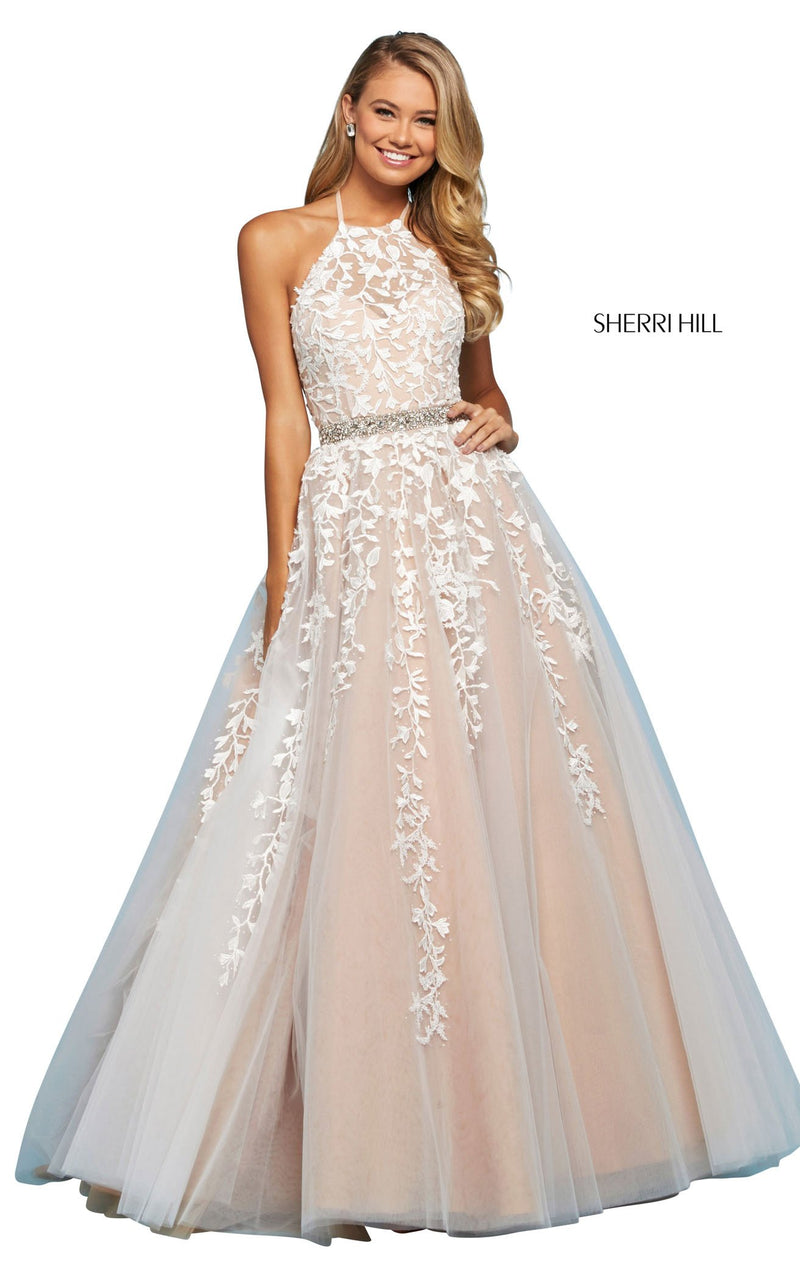 Sherri Hill 53371 Dress Ivory-Nude