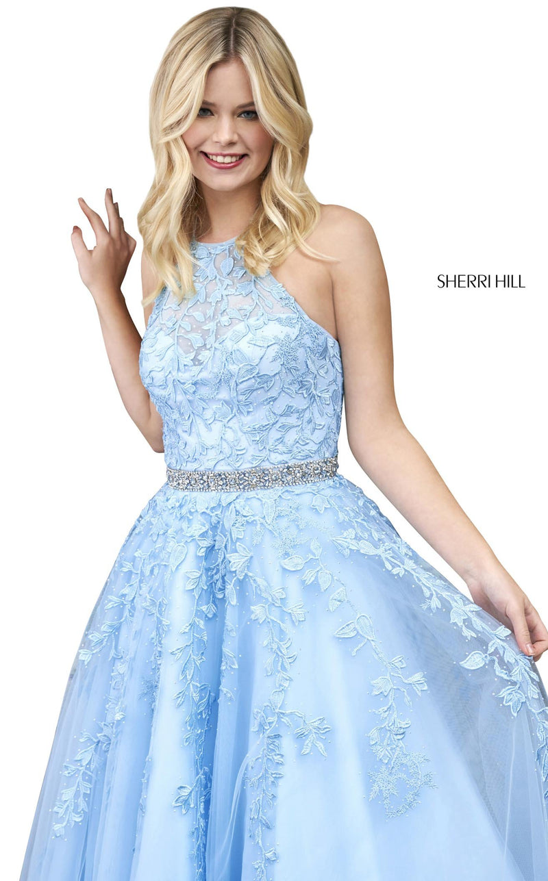 Sherri Hill 53371 Dress Light-Blue