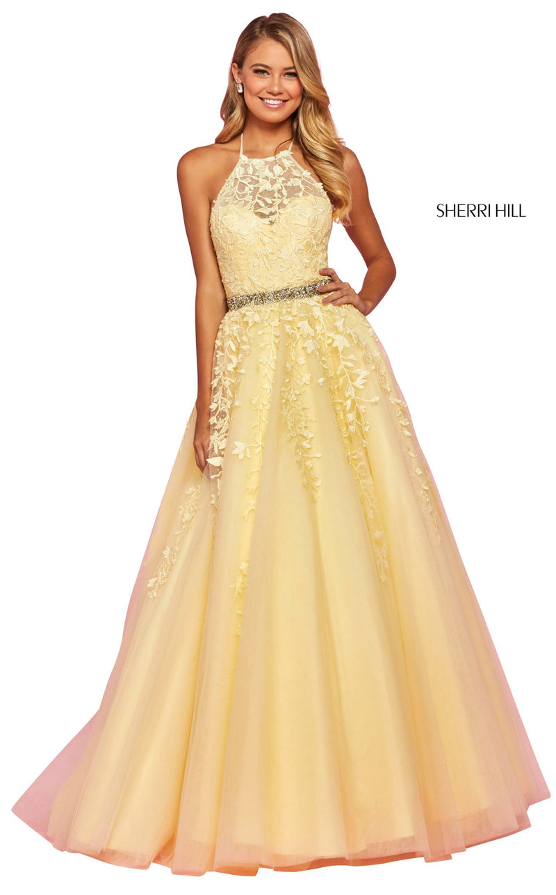Sherri Hill 53371 Dress Yellow