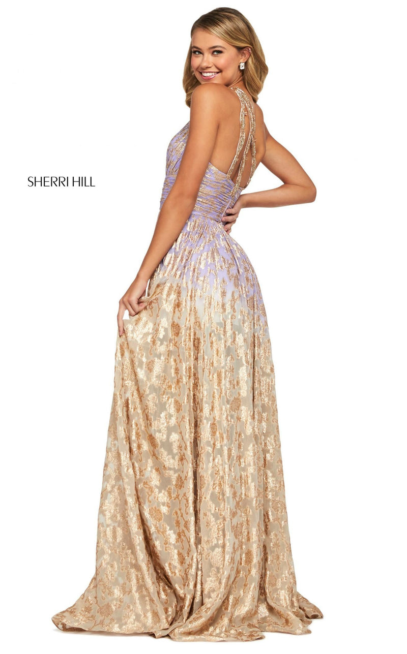 Sherri Hill 53376 Dress Lilac-Gold