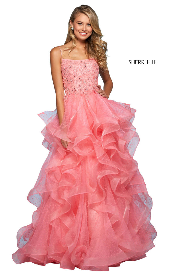 Sherri Hill 53418 Dress Coral