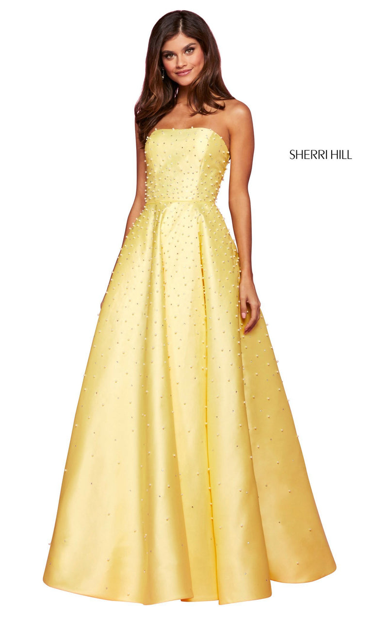 Sherri Hill 53421 Dress Yellow