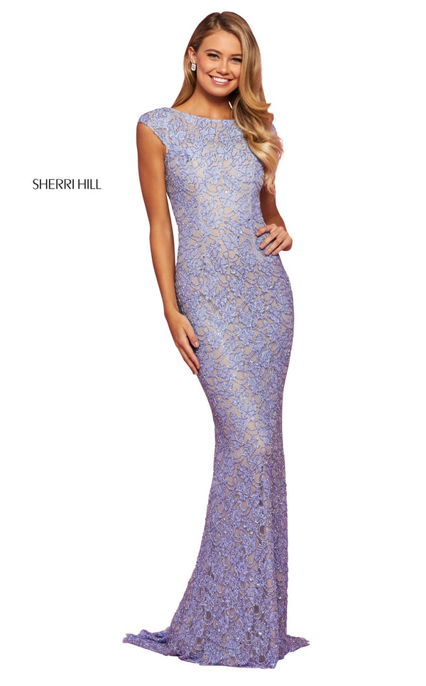 Sherri Hill 53446 Dress Periwinkle