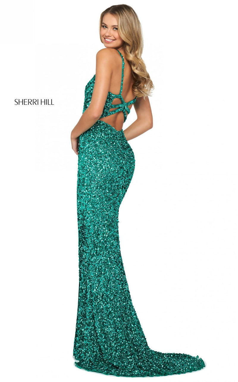 Sherri Hill 53450 Dress Emerald